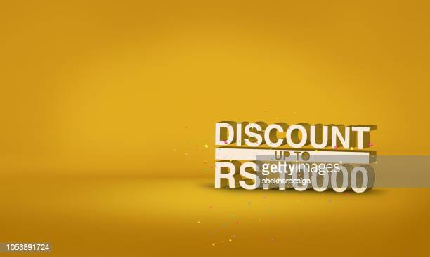 Discount typography background