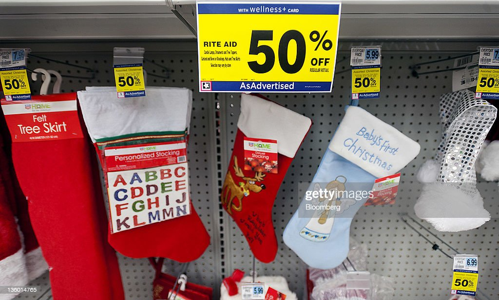 Rite Aid Christmas Hours.Discounted Christmas Items Are Displayed For Sale At A Rite