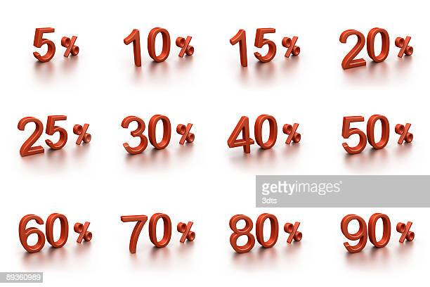 3D discounts collection (isolated on white)