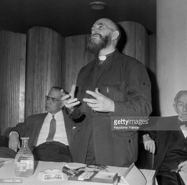 Discours de l'Abbé Pierre à la Conférence des Citoyens du Monde en 1967 en France