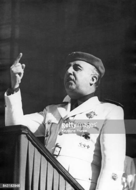 Discours du Général Franco pour célébrer les 7 ans du Mouvement National espagnol le 10 août 1943 à Madrid Espagne