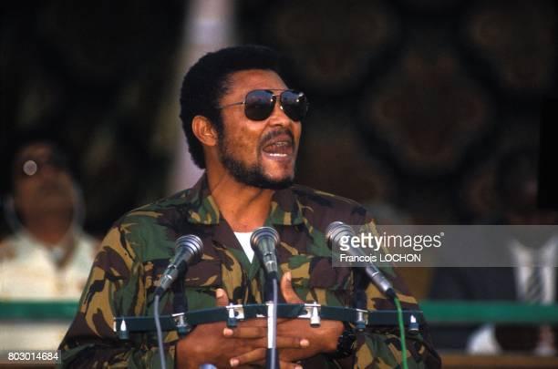 Discours du président ghanéen Jerry Rawlings lors du 18ème anniversaire de la révolution libyenne le 2 septembre 1987 à Tripoli Libye