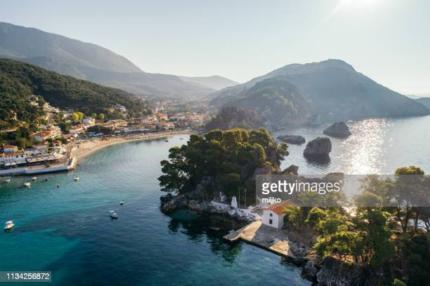 discover greece - parga - epirus greece stock pictures, royalty-free photos & images