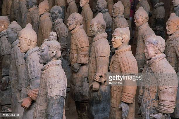 Discovered in 1974 the terracotta statues at Xian represent the armed retinue of unified China's first emperor Qin Shi Huang Ti There were more than...