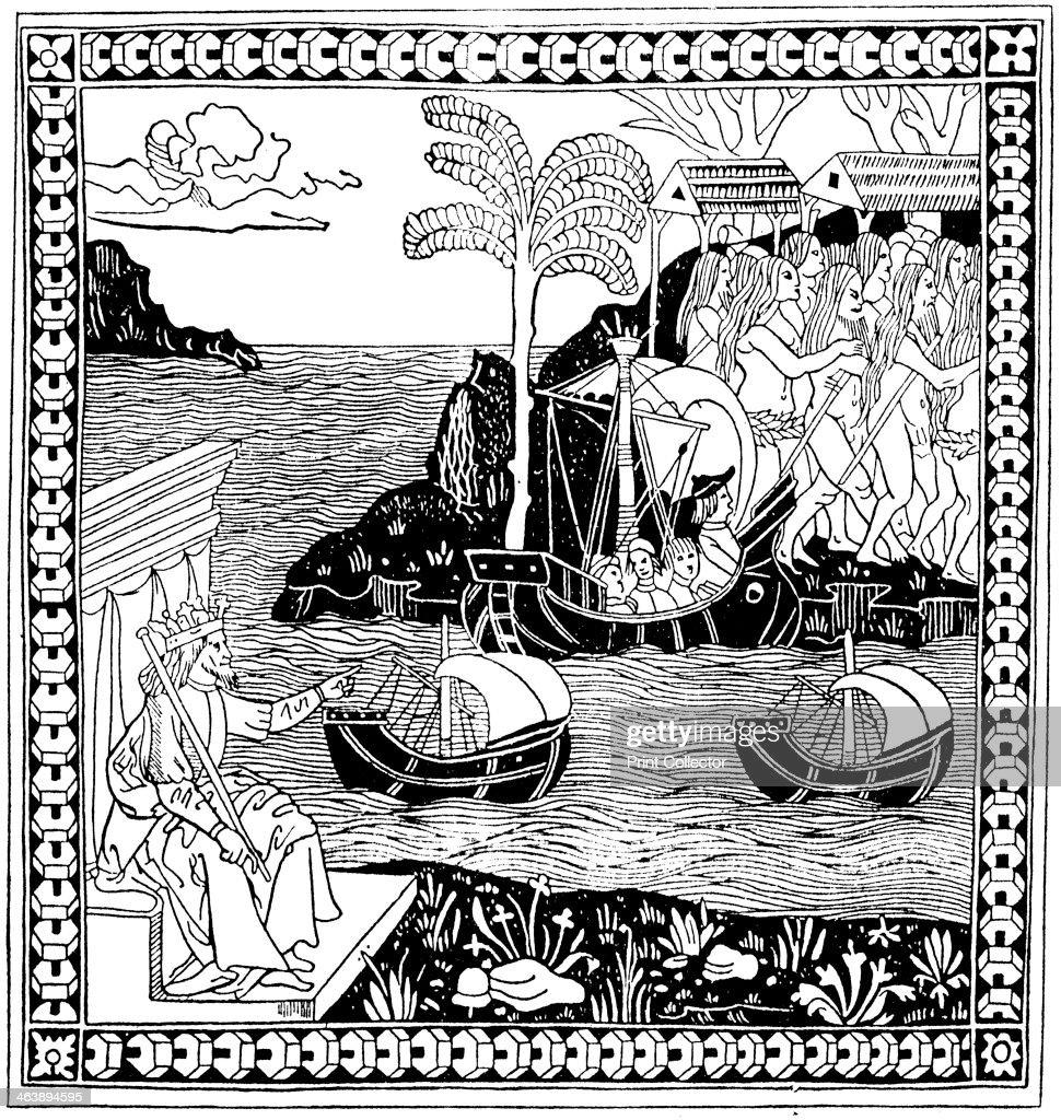 'Discovering America', Woodcut, 1493. Ferdinand II Of
