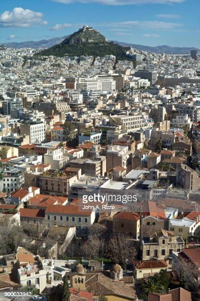 Discovering Greece Birds eye view of old Athens