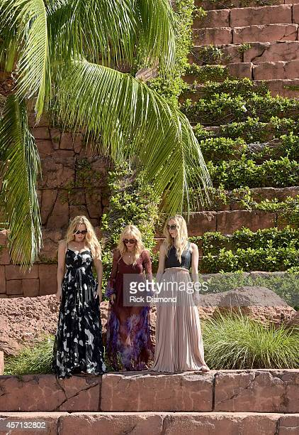 Discovering Lucy Angel filming and portrait session L/R Lindsay Anderton Kate Anderton and Emily Anderton at Atlantis Paradise Island on October 12...