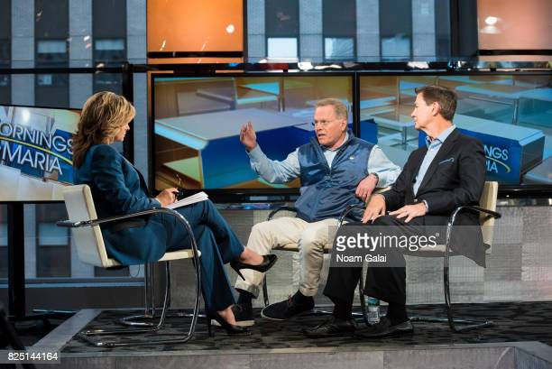 Discovery CEO David Zaslav and Scripps CEO Ken Lowe visit Fox Business Network's Mornings With Maria with Maria Bartiromo on August 1 2017 in New...