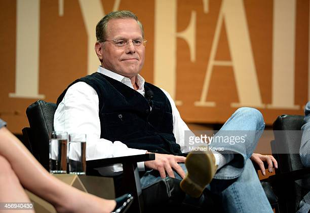 Discovery Communications President and CEO David Zaslav speaks onstage during Who Owns Your Screen at the Vanity Fair New Establishment Summit at...
