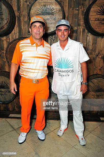 Discovery Land Company CEO Mike Meldman and pro golfer Rickie Fowler attend the Casamigos Tequila halloween party at a private residence on October...
