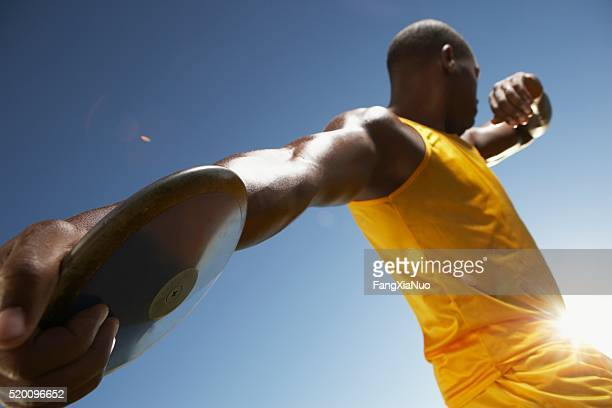 discus thrower - forward athlete stock pictures, royalty-free photos & images