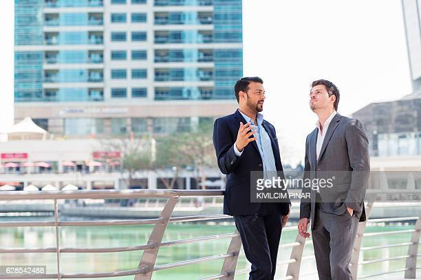 Discussing business in Dubai