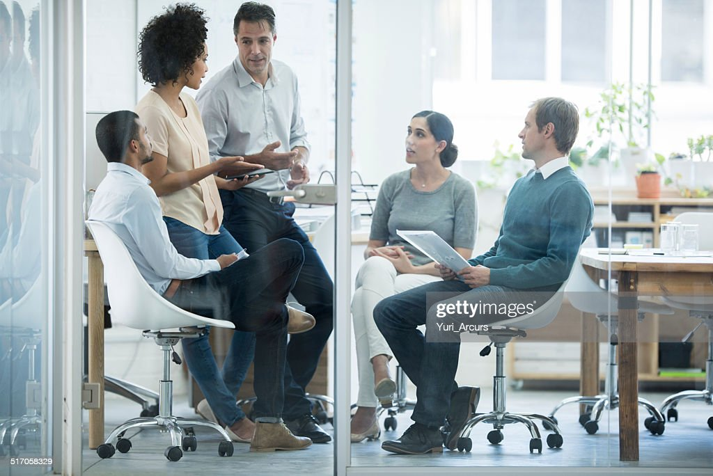 Discussing business : Stock Photo