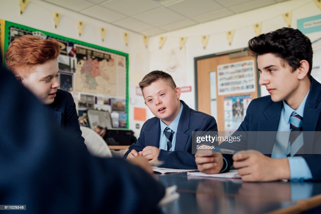 Discussing in Class : Stock Photo