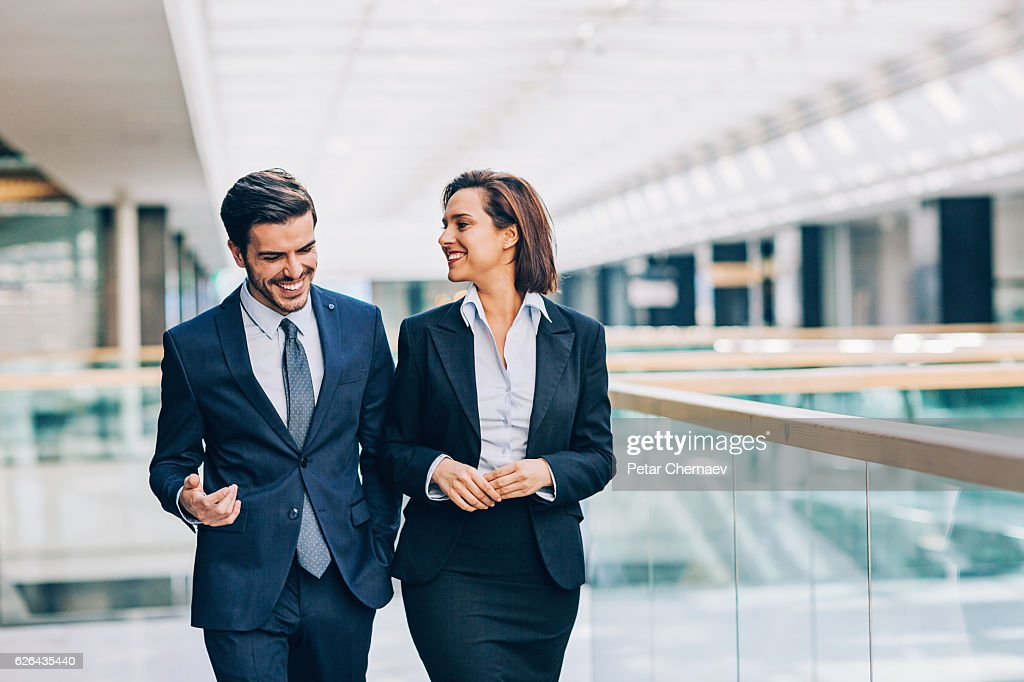 Discussing the business : Stock Photo