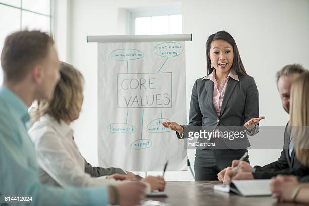 Discussing the Companies Core Values