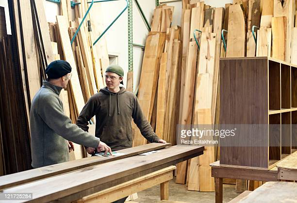 Discussion in wood store
