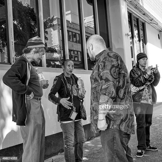 CONTENT] A discussion taking place between some people on the streets in Seattle WA