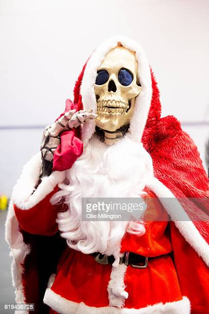 A discworld Farther Christmas Death on day 3 of the MCM London Comic Con at ExCel on October 30 2016 in London England