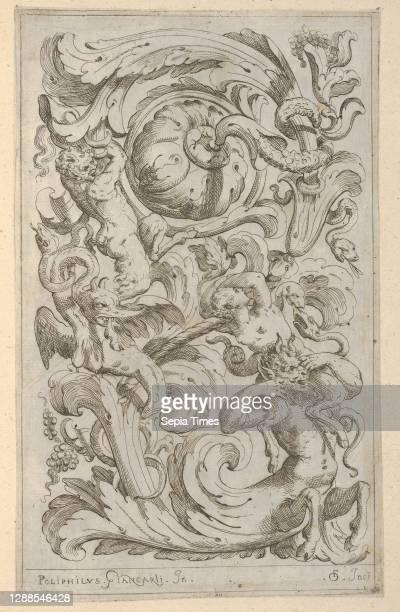 Disegni Varii di Polifilo Zancarli, 1628 before, Etching, Plate: 9 5/16 x 5 13/16 in. , Polifilo Giancarli , Odoardo Fialetti , Vertical panel design...