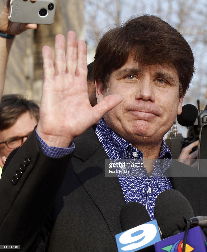 Rod Blagojevich Makes A Statement Before Beginning 14-Year Prison Term : News Photo