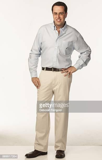 Disgraced Subway spokesman Jared Fogle posing on April 7, 2006 in New York City, New York.