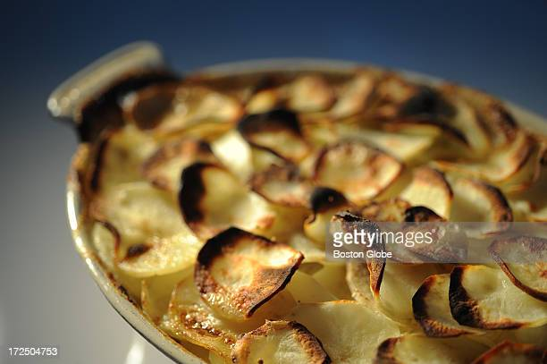 A dish of scalloped potatoes photographed on Jan 27 at Sheryl Julian's home and styled by Lisa Falso