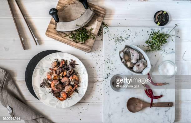 dish of shrimp