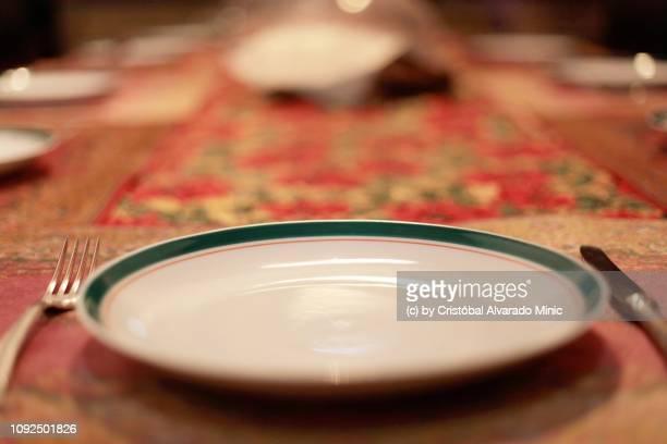 Dish On Table For Christmas