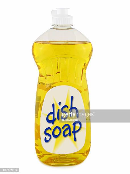 dish soap (with clipping paths) - dishwashing liquid stock photos and pictures