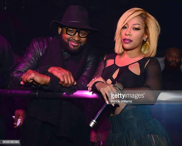 Dishaun Stewart and K Michelle attend Prive on January 16 2016 in Atlanta Georgia