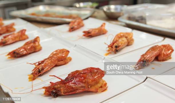 Dishes displayed during Lee Kum Kee International Young Chef Chinese Culinary Challenge Final cooking competition at Pok Fu Lam 06MAR14 [MAR2014 LIFE...