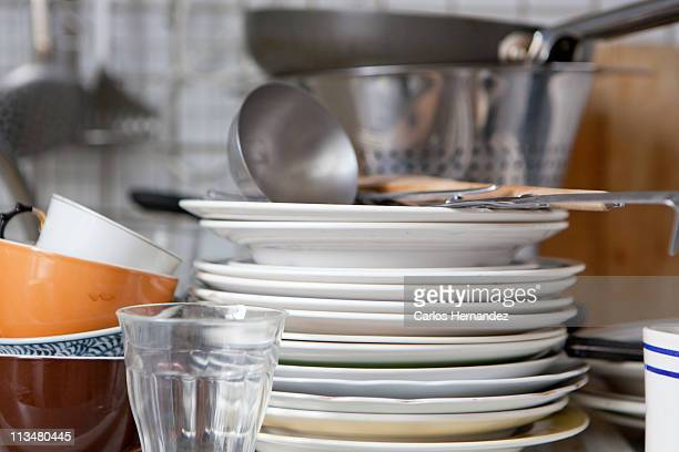 Dishes in a kitchen