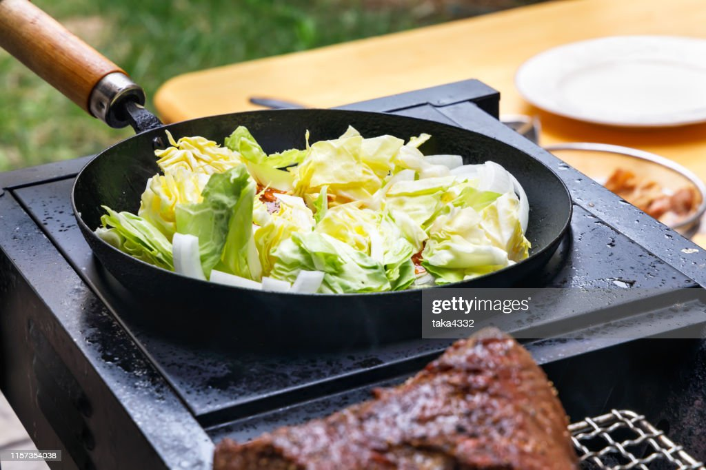 Dishes made on the barbecue grill : Stock Photo