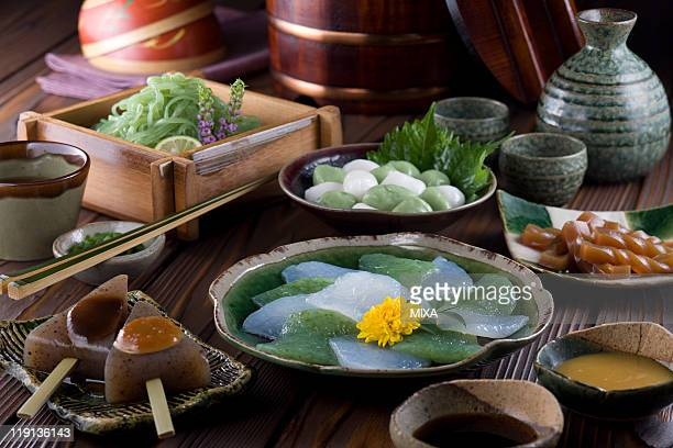 dishes of konnyaku - konjac stock pictures, royalty-free photos & images