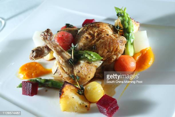 Dishes of Panroasted boneless spring chicken stuffed with mozzarella by Gradini Ristorante Italiano at The Pottinger Hong Kong Central 16DEC14