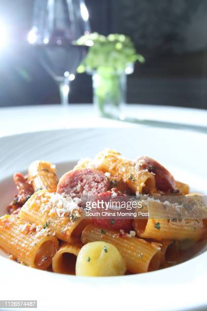 Dishes of Rigatoni with Tuscan sausage by Gradini Ristorante Italiano at The Pottinger Hong Kong Central 16DEC14