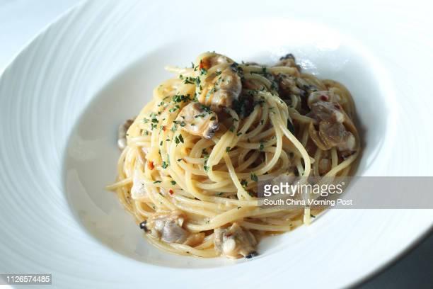 Dishes of Spaghetti vongole by Gradini Ristorante Italiano at The Pottinger Hong Kong Central 16DEC14