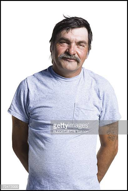 disheveled middle aged man - hillbilly stock pictures, royalty-free photos & images