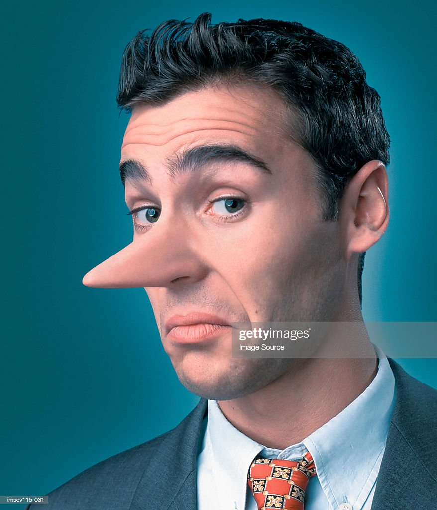 Dishonest businessman : Stock Photo