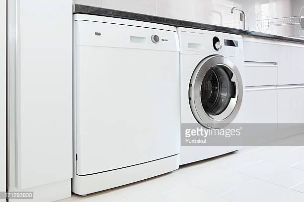 dishwasher and washing machine