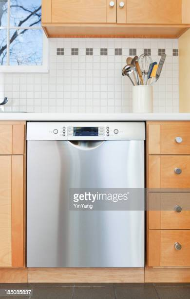 Dishwasher, Cabinet and counter in Domestic Kitchen