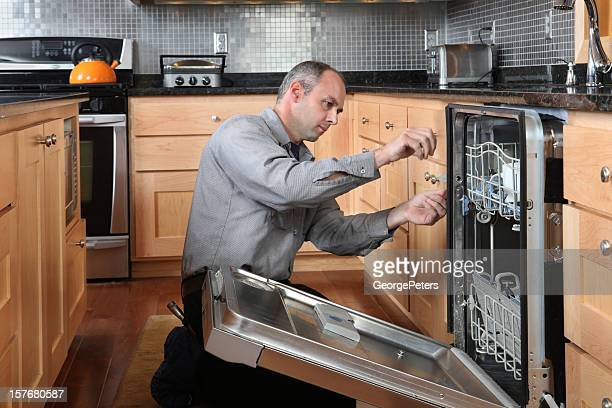 dishwasher repair - appliance stock pictures, royalty-free photos & images