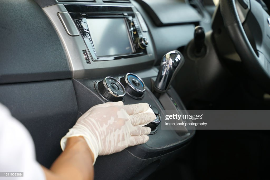 Disinfection On Car Dashboard High Res Stock Photo Getty Images