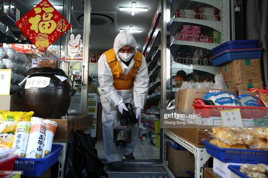 Concern In South Korea As The Wuhan Coronavirus Spreads : News Photo