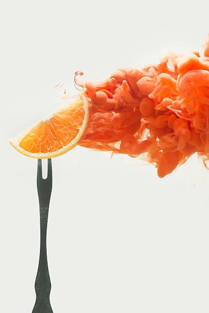 Disintegrated Orange Wall Art