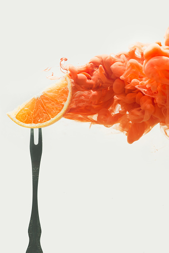 Disintegrated orange - gettyimageskorea