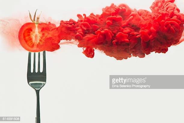 disintegrated tomato - genetic modification stock pictures, royalty-free photos & images