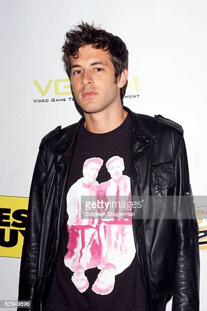 Disk jockey Mark Ronson attends Inside E3 2005 an interactive entertainment party at Avalon Hollywood on May 18 2005 in Hollywood California