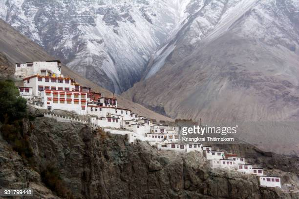 diskit monastery, nubra valley, ladakh. - kashmir stock photos and pictures
